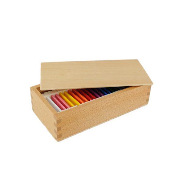 Deuxième boite des couleurs montessori