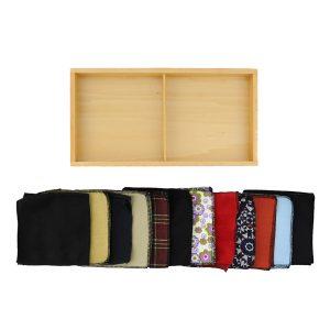 Première boite des tissus montessori
