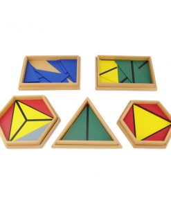 Triangles Constructeurs Colorés montessori
