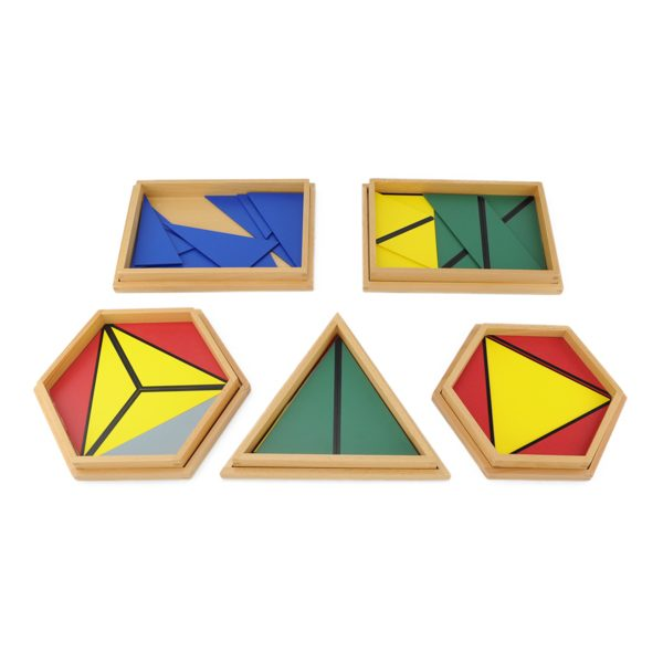 Triangles Constructeurs Colorés montessori