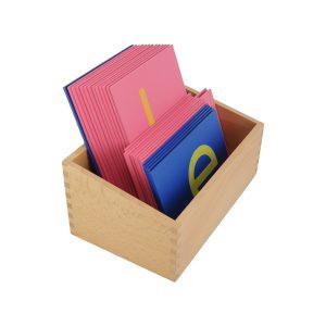Lettres Rugueuses montessori Minuscule D'Imprimerie