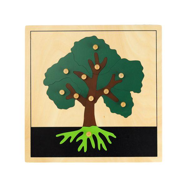 Puzzle de l'arbre Montessori en bois