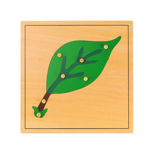 Puzzle feuille Montessori