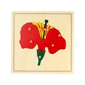 Puzzle de la fleur Montessori en bois