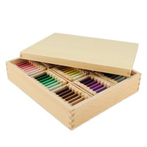 Troisième boite des couleurs montessori