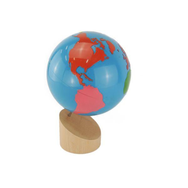 globe des continents montessori
