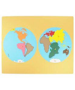 Planisphère des continents