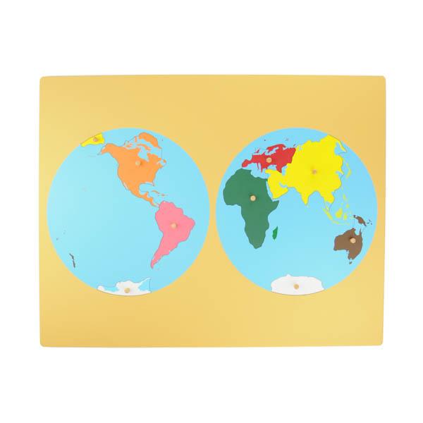 Planisphère des continents montessori