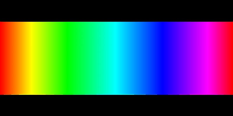 rouge, bleu vert
