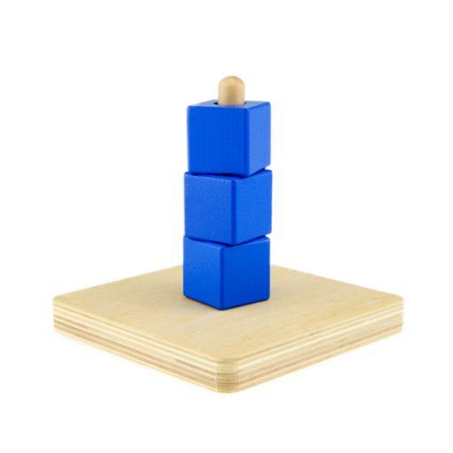 cubes bleus : exercice de concentration et de coordination