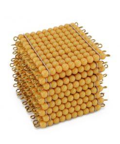 9 carrés de 100 perles pour compter avec les perles