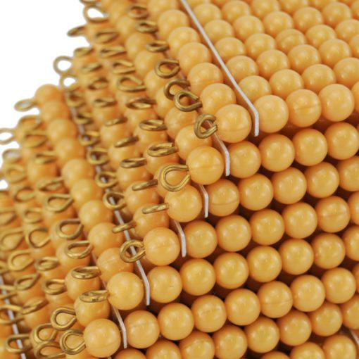 9 carrés de 100 perles montessori