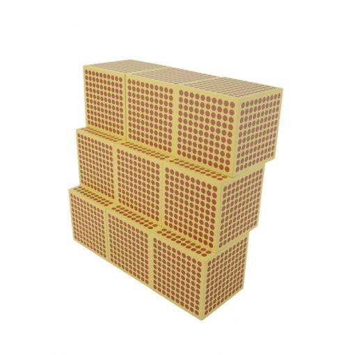 9 cubes de 1 000 montessori