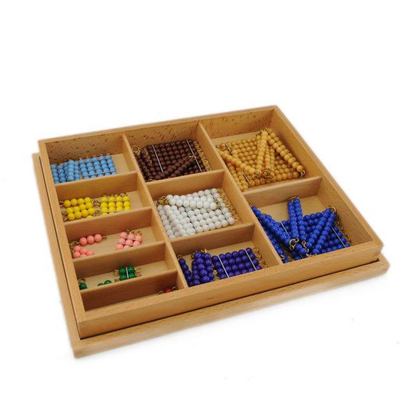 chaines et carrés de perles montessori