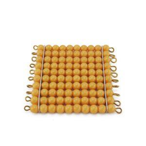 1 carré de 100 perles montessori