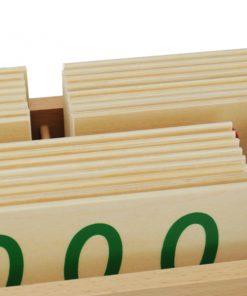 carte des nombres en bois fsc