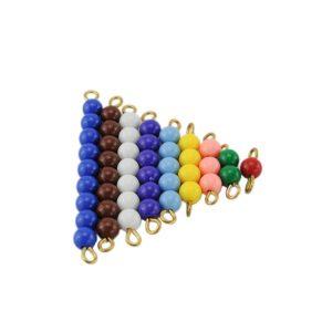 escalier de perles colorés montessori