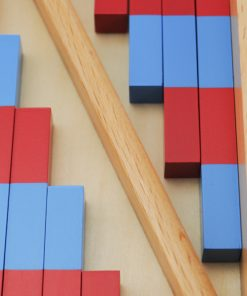 petites barres rouges et bleues montessori zoom