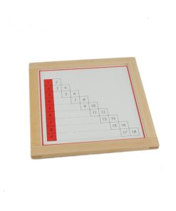 Tableaux de contrôle des additions montessori