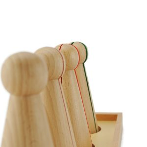 Quilles montessori pour apprendre les fractions