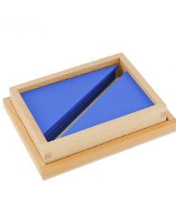triangles constructeurs bleus montessori