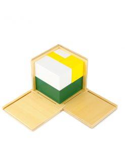Cube à la puissance de 2 montessori