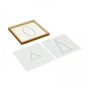 cartes des solides géométrique avec plateau