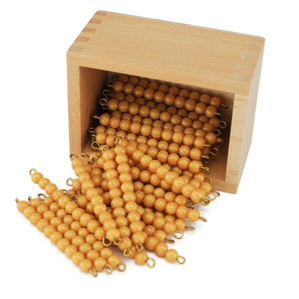 45 Barres De 10 Perles Dorées