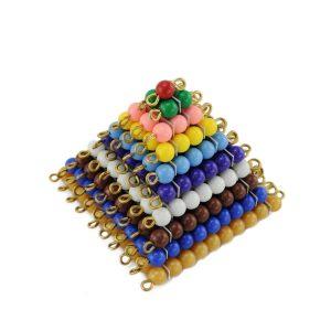 Carrés de perles montessori