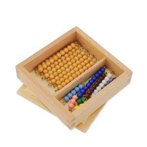 Perles de la première table de seguin montessori