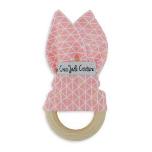 anneau de dentition rose montessori