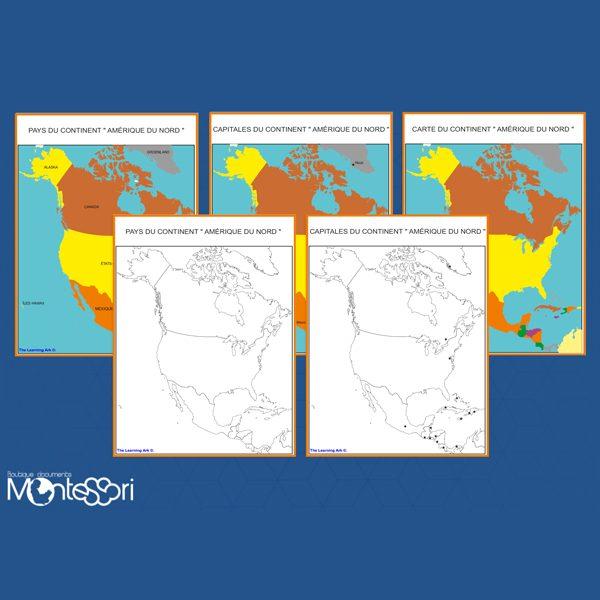 Carte Amerique Du Sud Pays Et Capitales Pdf.Cartes De L Amerique Du Nord Document Montessori Pensees Montessori