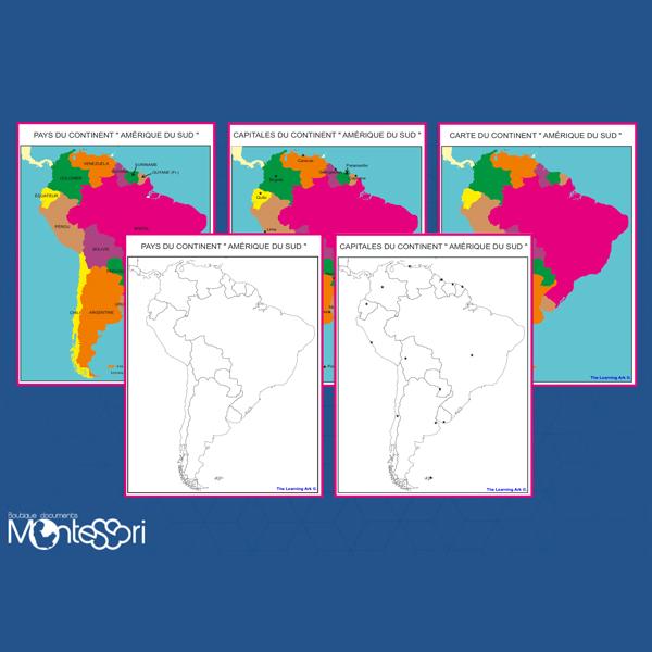 Carte Amerique Latine A Remplir.Cartes De L Amerique Du Sud