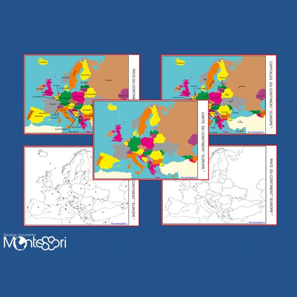 Carte De Leurope Jeux Educatifs.Cartes De L Europe Document Montessori Pensees Montessori