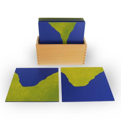 Cartes rugueuses montessori