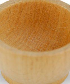 Pôt en bois pour perles dorées montessori