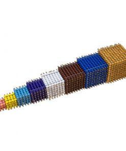 cubes de perles montessori