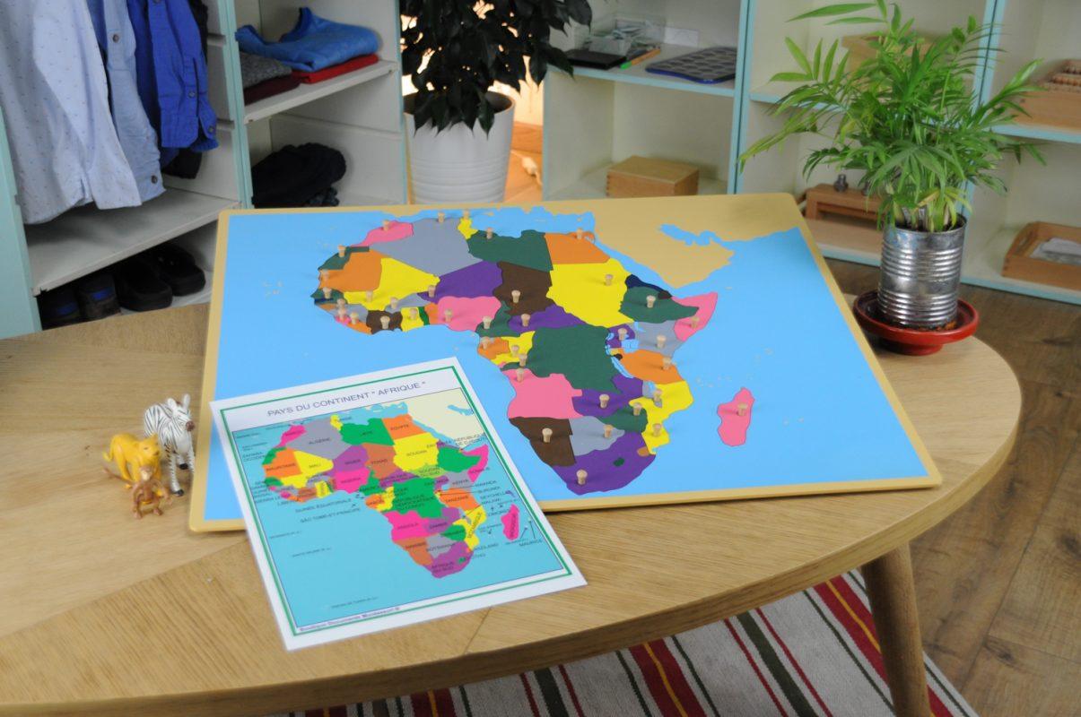 Puzzle montessori afrique