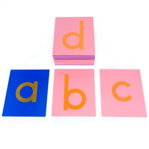 Lettres rugueuses montessori minuscules