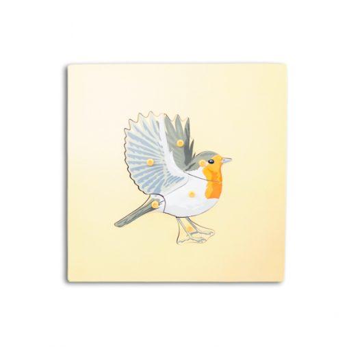 puzzle de l'oiseau avec squelette montessori