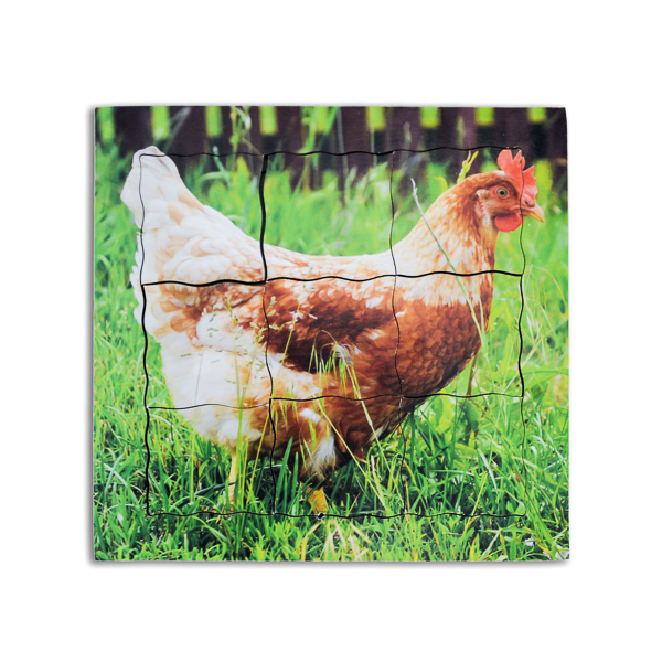 puzzle montessori de la poule