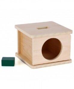 Boite d'encastrement Montessori avec rectangle