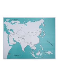 Carte de controle de l'asie