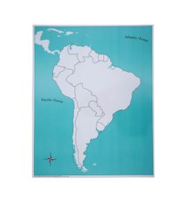 Carte de Contrôle de L'Amérique du Sud