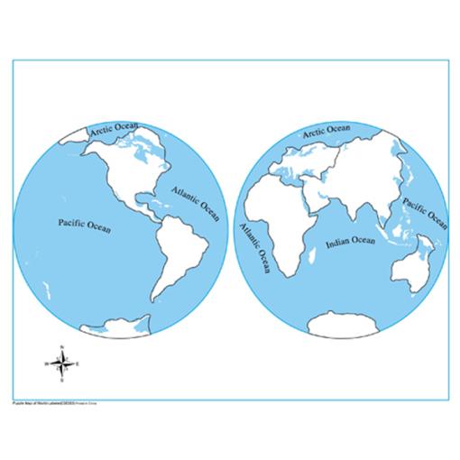 carte de controle des continents
