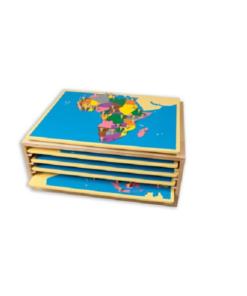 Puzzles des 5 continents