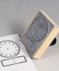 Tampon horloges à cadran et digitale